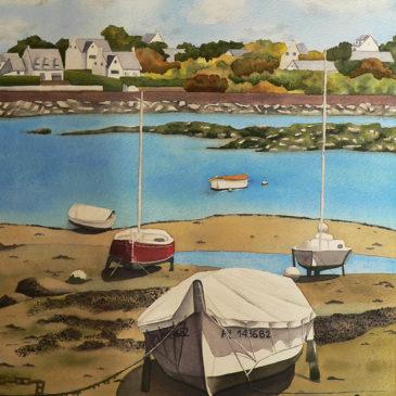 Tableau Barques bretonnes