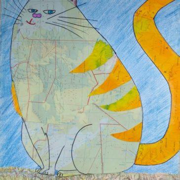 """collage """"chat après confinement"""""""