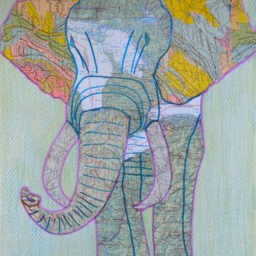 """collage """"Elephant après confinement"""""""