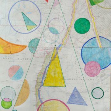 """collage """"hommage à Auguste Herbin"""""""