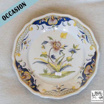 assiette décorative motifs fleurs