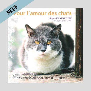 """Couverture représentant un chat du livre """"pour l'amour des chats"""" de Liliane Krauskopff"""