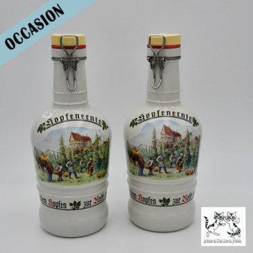 Bouteilles de bière en céramique